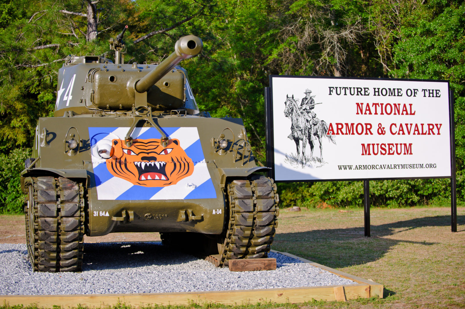 04 APR 2011 - National Armor and Cavalry Museum sign, MCoE, Fort Benning, GA.  Photo by John D. Helms - john.d.helms@us.army.mil