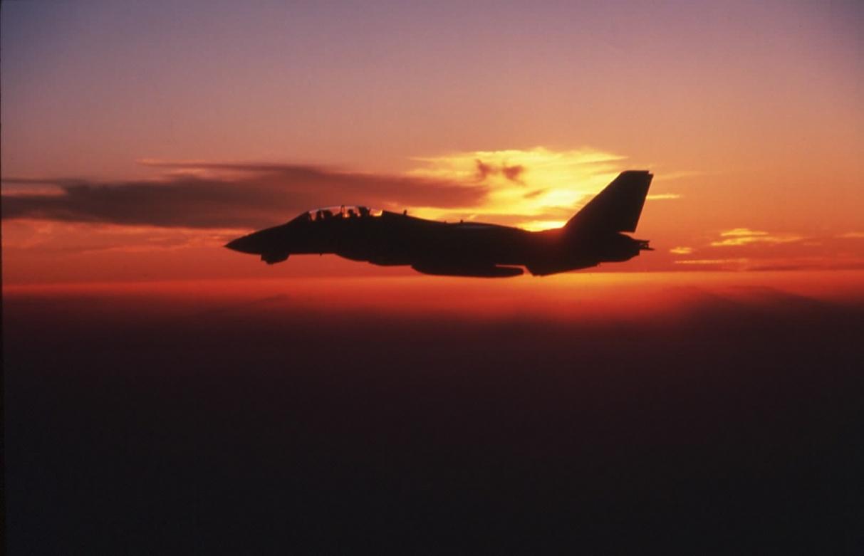 F-14 sunset