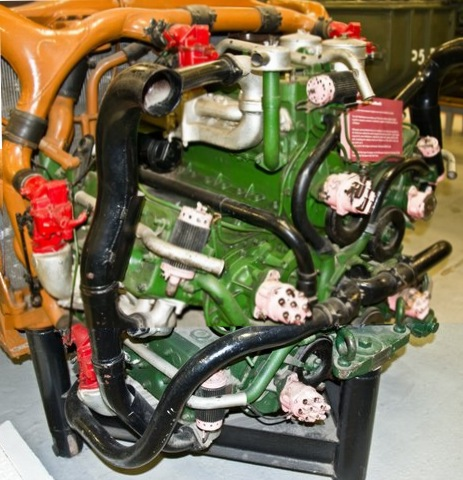 The Chrysler A57 Multibank Type 30 Cylinder 4 Cycle Cooling System Liquid Ignition Battery Displacement 1253 Ci Bore And Stroke 37 5