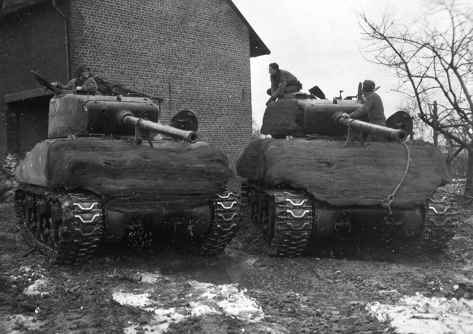 747 Tank Battalion, Schleiden, 1945