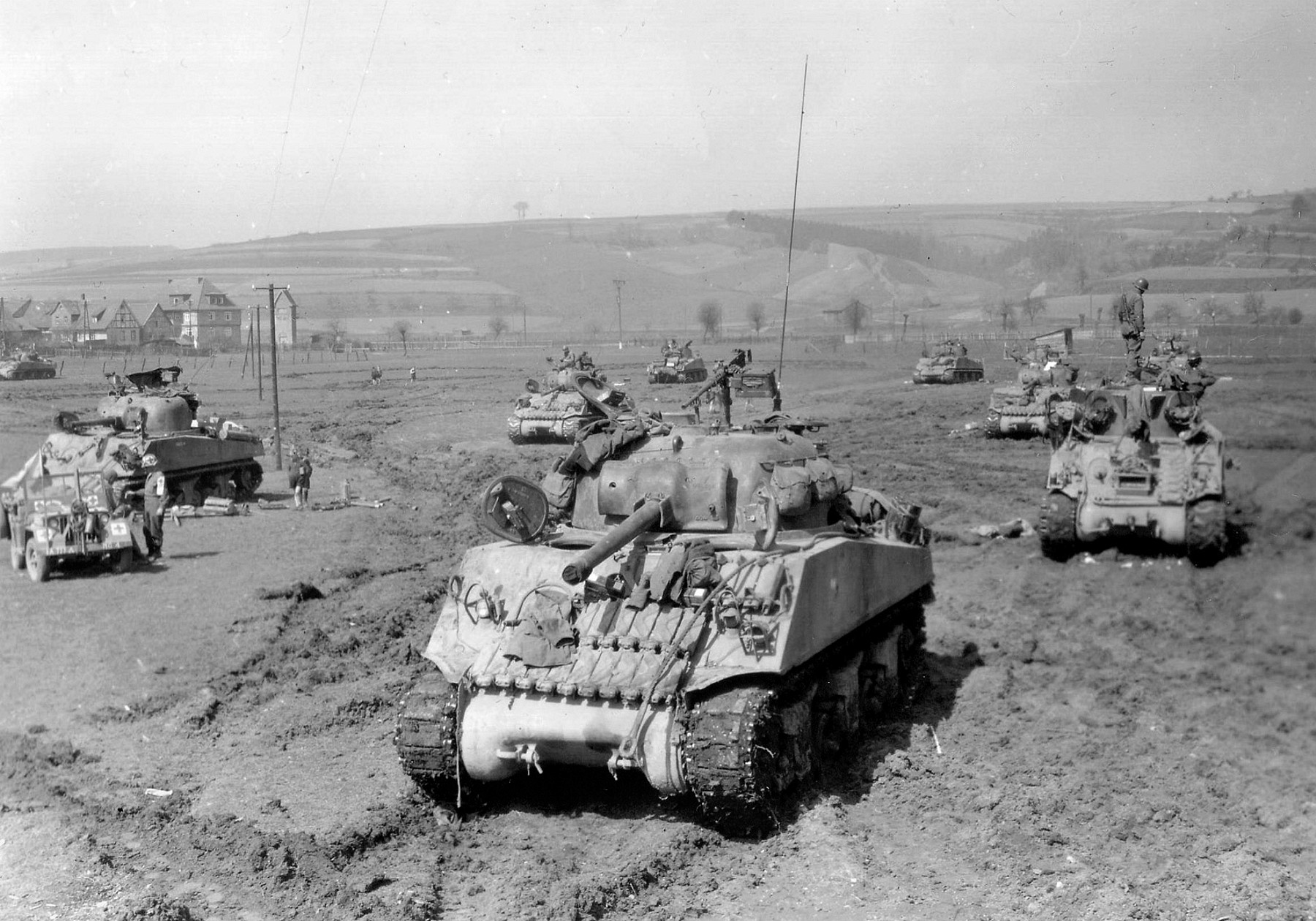 9th Armored Division, Westhousen, Germany, 10 April 1945