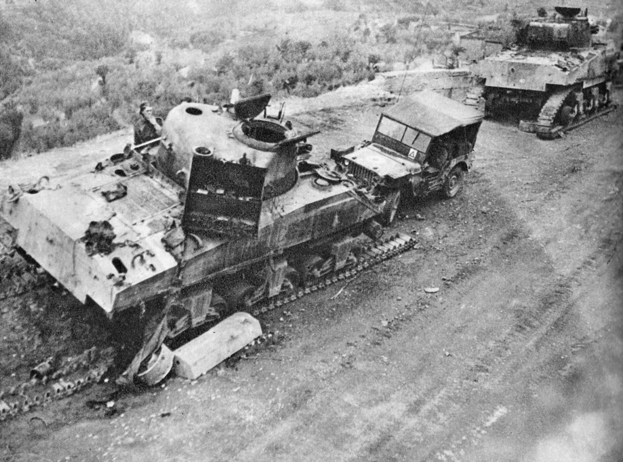 British M4A2 Sherman wrecks