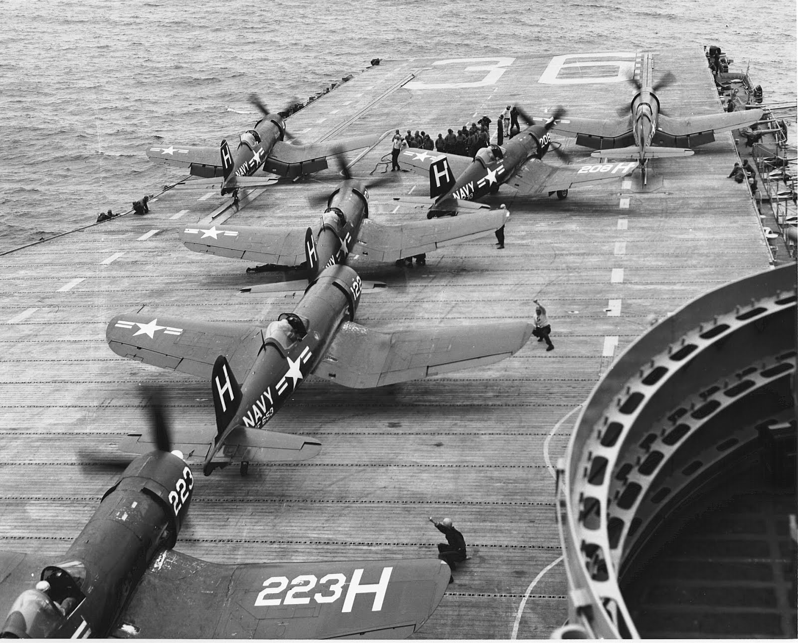CV-36 F4U-4 Launch Korea 1952 Rocker Collection