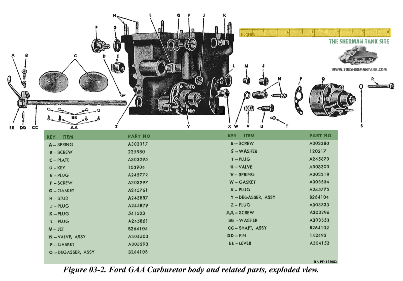 Carburetor-body-and-related-parts-explod
