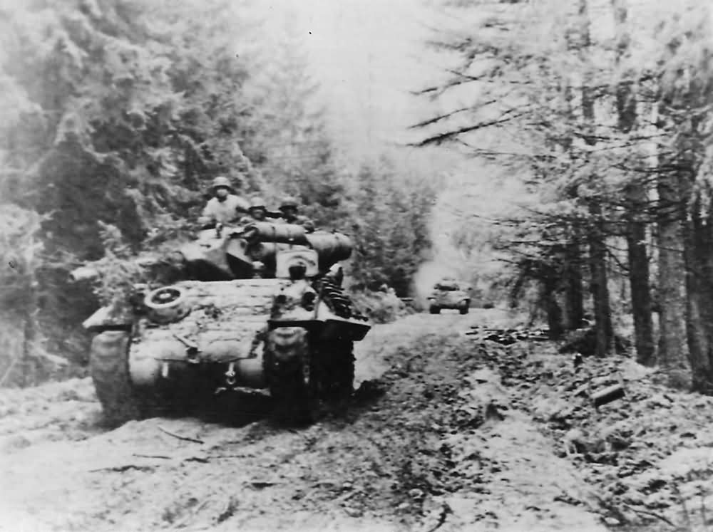 M10_Moving_Thru_Hurtgen_Forest_893rd_Tank_Destroyer_Battalion