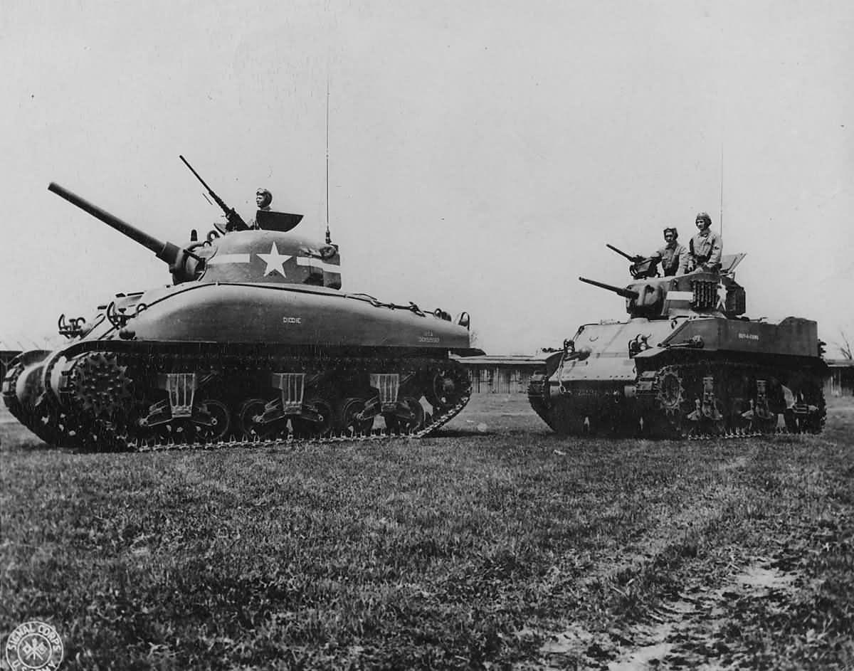 M4A1_Sherman_Followed_By_M5_Stuart