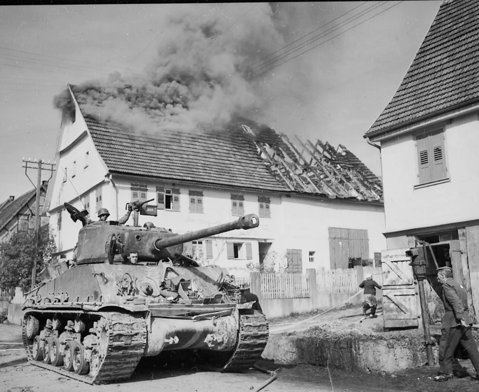 M4A3E8_Sherman_HVSS_with_76mm_gun_10th_Armored_Division_Rosswalden_Germany_1945