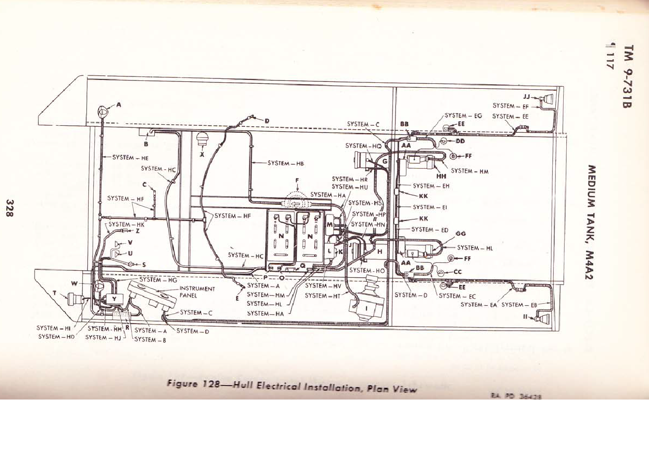early sherman hull wiring diagram m4a2