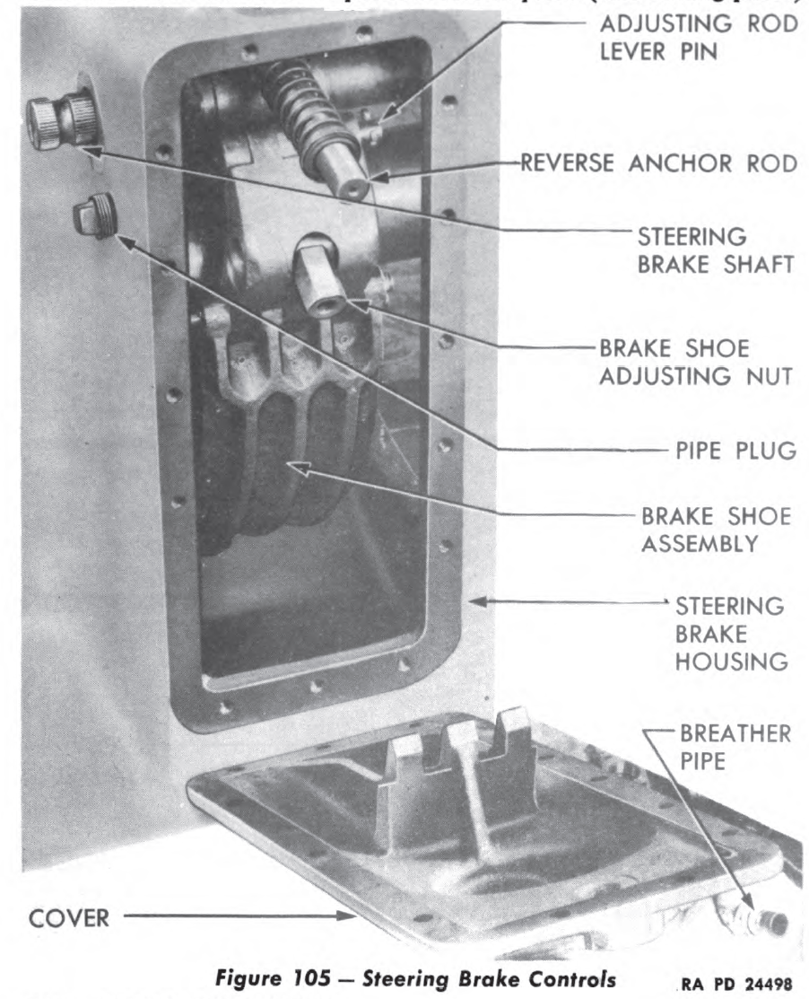 powertrain brake adjeuxtment